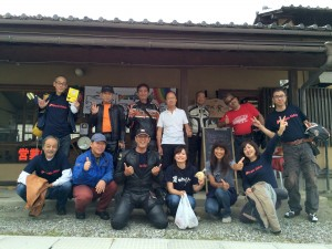 旬にはライダーたちがどどっとやってきてくれるカフェ。名古屋や新潟方面の方が増えました!