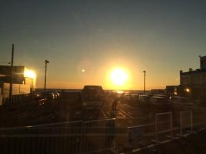 同じ時間に戻れれば、この夕焼けが見られるのね〜。