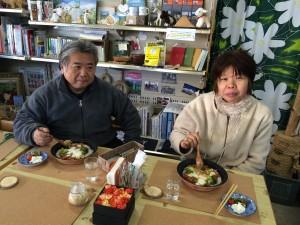 旦那様は、「日本ソロツーリンク倶楽部」の代表者。奥様は、2度もスクーターで京都から走ってきてくれました。凄いです。